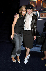 Left to right, KIM HERSOV and JULIA PEYTON-JONES at a party held at Tramp nightclub, 38 Jermyn Street, London to celebrate the opening of an exhibition by Martin Creed at the Hauser & Wirth London gallery, 196a Piccadilly, London on 12th October 2004.<br />