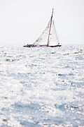 Serenade sailing in the Museum of Yachting Classic Yacht Regatta, race one.