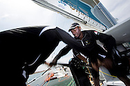 La Route des Princes. Valencia. Spain.<br /> Oman Air Musandam MOD70. Images showing crew member Fahad Al Hasni (OMA).<br /> <br /> Credit: Lloyd Images