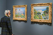 Villas at Bordighera, 1884, and other Village and Picturesque paintings - The Credit Suisse Exhibition: Monet & Architecture a new exhibition in the Sainsbury Wing at The National Gallery.