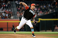 PHOENIX, AZ - AUGUST 26:  Taijuan Walker #99 of the Arizona Diamondbacks delivers a pitch in the game against the San Francisco Giants at Chase Field on August 26, 2017 in Phoenix, Arizona.  (Photo by Jennifer Stewart/Getty Images)