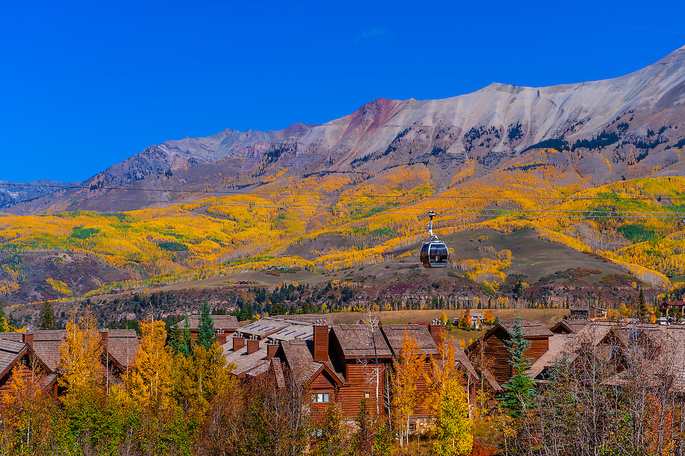 Gondola, Telluride Mountain Village, Telluride, Colorado USA.