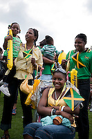 West Indian Jamaican family day at Crystal Palace Park South London