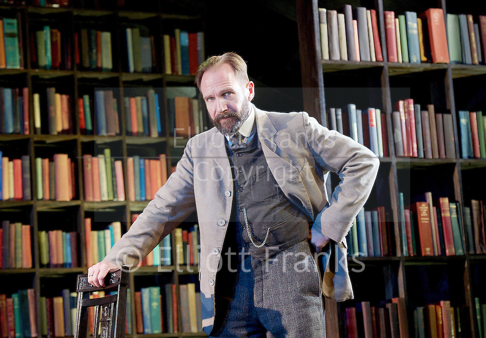 The Master Builder <br /> by Henrik Ibsen adapted by David Hare<br /> at The Old Vic Theatre, London, Great Britain <br /> press photocall <br /> 29th January 2016 <br /> <br /> Ralph Fiennes as Halvard Solness<br /> <br /> <br /> <br /> <br /> Photograph by Elliott Franks <br /> Image licensed to Elliott Franks Photography Services