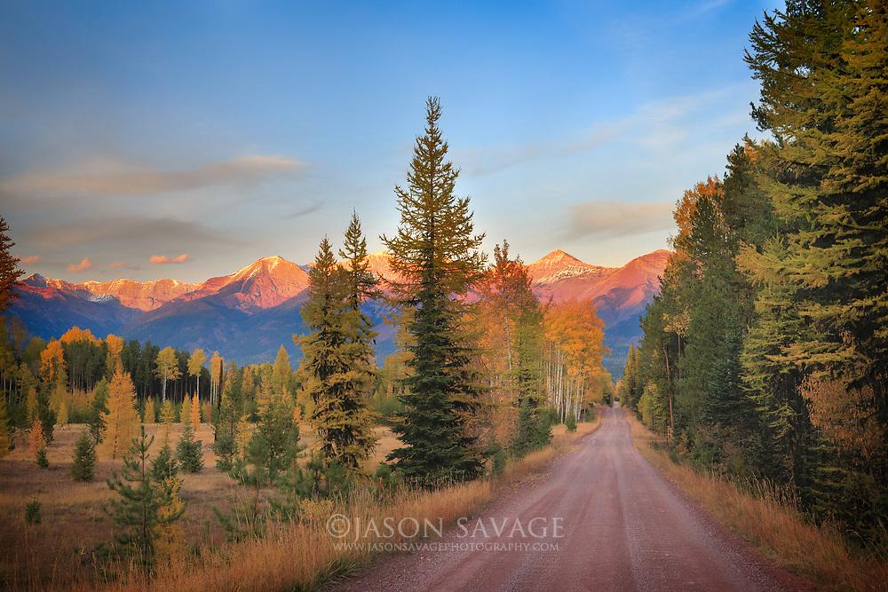 Backroad near Condon, Montana.