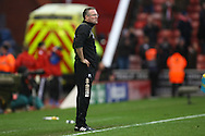Picture by Paul Chesterton/Focus Images Ltd.  07904 640267.03/03/12.Norwich Manager Paul Lambert contemplates his side's 3rd defeat in a row at the end of the Barclays Premier League match at the Britannia Stadium, Stoke-on-Trent.
