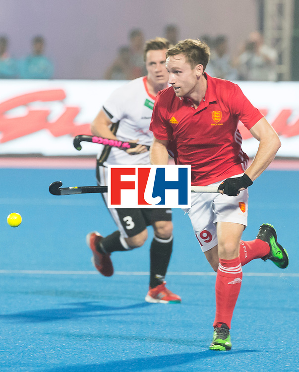 BHUBANESWAR - The Odisha Men's Hockey World League Final . Match ID 01 . Germany v England (2-0).  David Goodfield (Eng) .WORLDSPORTPICS COPYRIGHT  KOEN SUYK