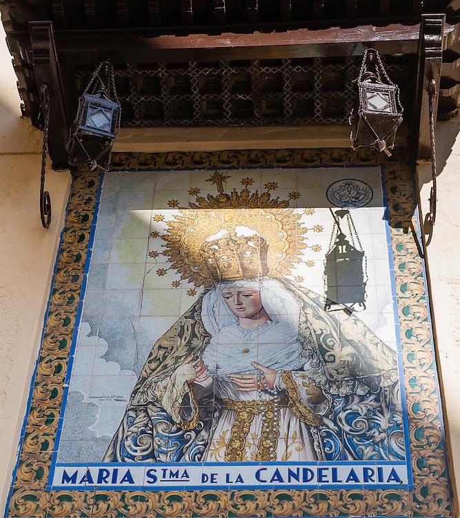 Image of Virgin in Sevilla (Spain)