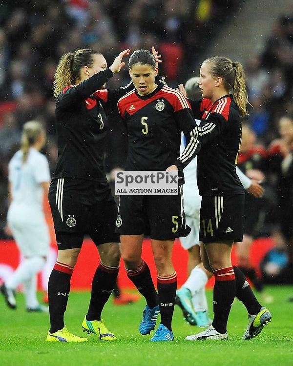 Germany Celebrate their Second Goal, England v Germany Ladies, Breast Cancer Care International, Wembley , Sunday 23rd November 2014