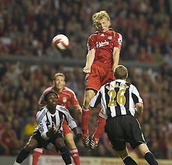 LIVERPOOL, ENGLAND - WEDNESDAY, SEPTEMBER 20th, 2006: Liverpool's Dirk Kuyt in action against Newcastle United during the Premiership match at Anfield. (Pic by David Rawcliffe/Propaganda)