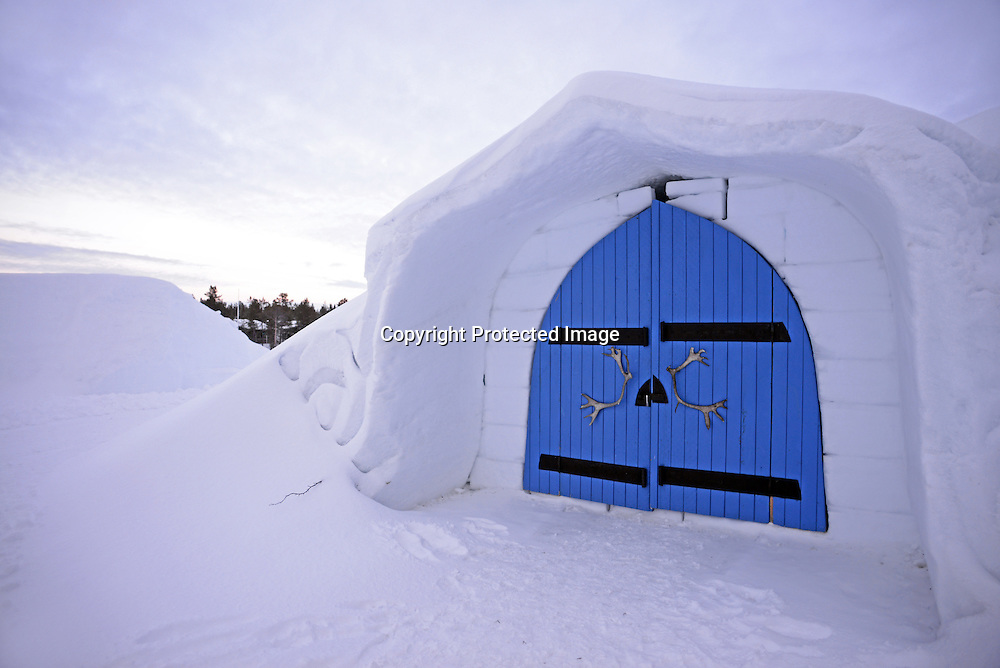 Snow chapel at Kakslauttanen Arctic Resort. Saariselka, Finland