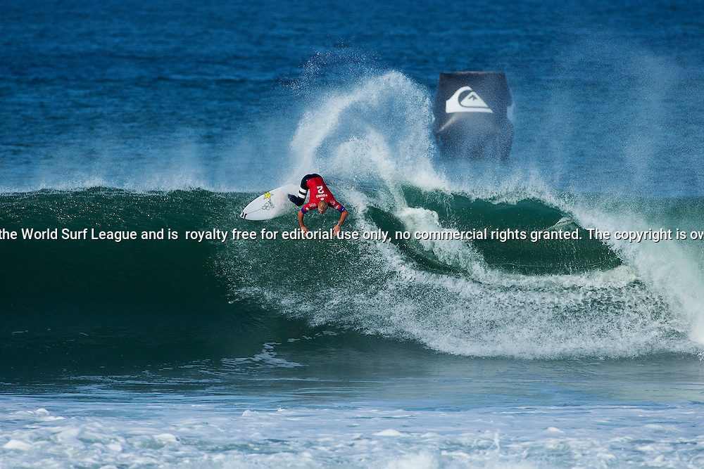 Nat Young of Santa Cruz, USA (pictured)  eliminated during Round 3 of the Quiksilver Pro France on Saturday October 10, 2015.