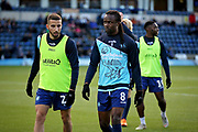Wycombe Wanderers Marcus Bean(8) and Wycombe Wanderers Sido Jombati(2) warming up before the EFL Sky Bet League 1 match between Wycombe Wanderers and Peterborough United at Adams Park, High Wycombe, England on 3 November 2018.