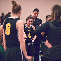 4th year guard, Avery Pearce (4) of the Regina Cougars during the Women's Basketball Home Game on Fri Feb 15 at Centre for Kinesiology,Health and Sport. Credit: Arthur Ward/Arthur Images