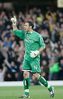 Photo: Marc Atkins.<br />Watford v Middlesbrough. The Barclays Premiership. 04/11/2006. Watford Goalkeeper Richard Lee celebrates his teams win.