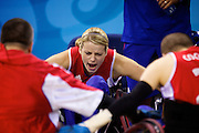 Beijing 2008 Paralympic Games 6th-17th September..Josie Pearson of Great Britain in the quad rugby semi final against the USA in the USTB Gymnasium at the Paralympic games, Beijing, China.  15th  September 2008