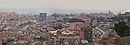 Panorama di genova dal biscione, quartiere popolare conosciuto anche come Forte Quezzi. View of Genoa by the big snake, popular neighborhood known as Fort Quezzi,