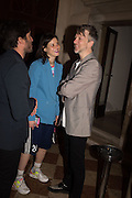 TATI  COTLIAR; JEFFERSON HACK, Sarah Lucas- Scream Daddio party hosted by Sadie Coles HQ and Gladstone Gallery at Palazzo Zeno. Venice. 6 May 2015.