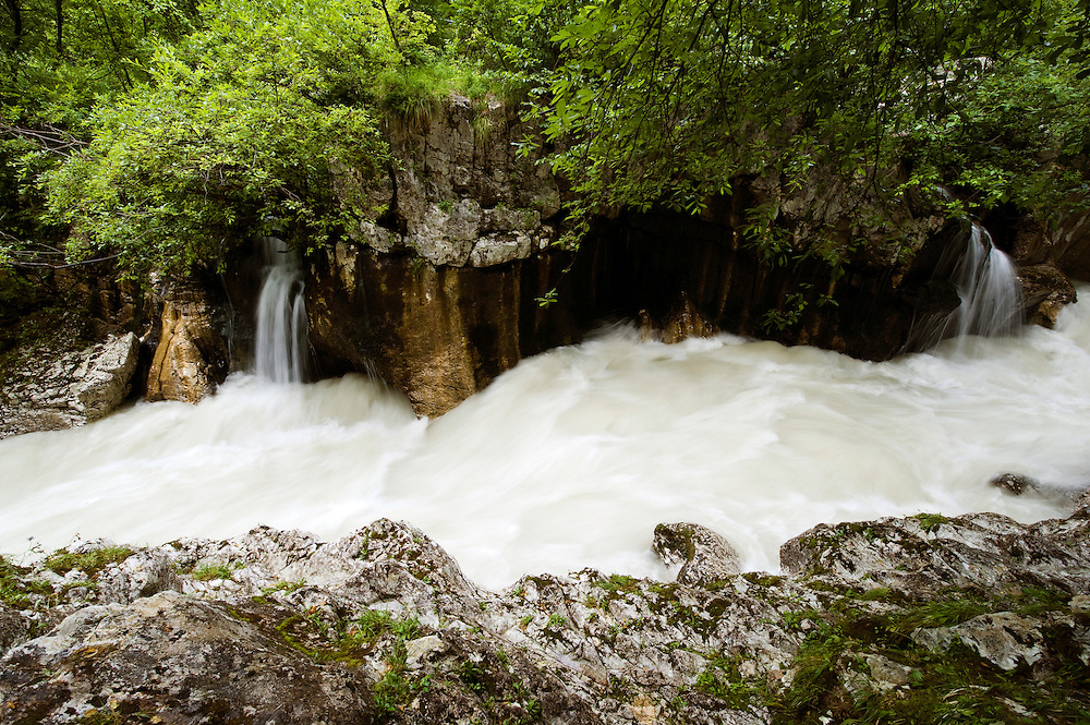 wild River Soca (&quot;Velika korita&quot;, &quot;Grand Canyon&quot;) after heavy rain<br /> Triglav National Park, Slovenia<br /> June 2009