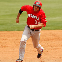 Apr 04, 2010; Baton Rouge, LA, USA; Georgia Bulldogs base runner Chase Davidson (34) runs the bases in a game against the LSU Tigers at Alex Box Stadium. Mandatory Credit: Derick E. Hingle-US PRESSWIRE
