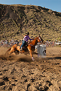 Barrel Racing, rodeo, cowgirl, Gardiner, Montana