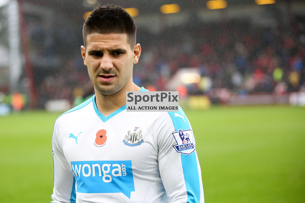 Aleksandar Mitrovic During AFC Bournemouth vs Newcastle United on Saturday the 7th November 2015.