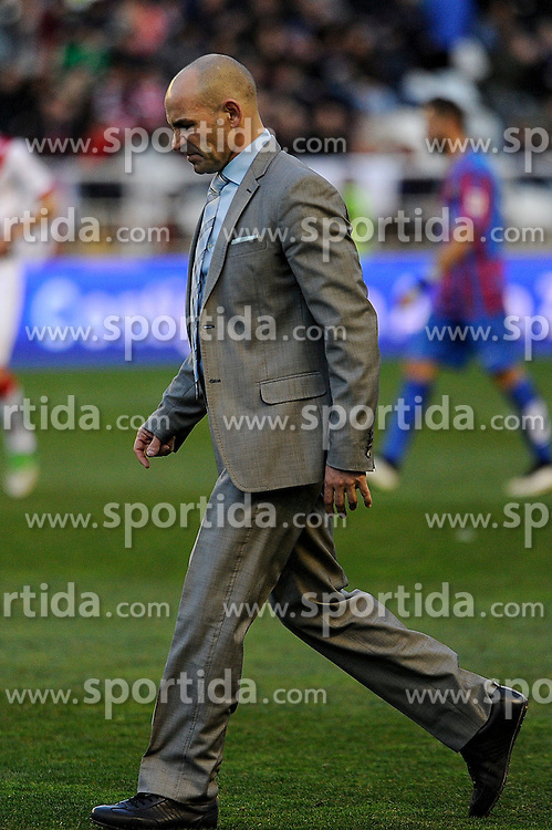 28.02.2015, Campo de Futbol, Madrid, ESP, Primera Division, Rayo Vallecano vs Levante UD, 25. Runde, im Bild Rayo Vallecano&acute;s coach Paco Jemez // during the Spanish Primera Division 25th round match between Rayo Vallecano and Levante UD at the Campo de Futbol in Madrid, Spain on 2015/02/28. EXPA Pictures &copy; 2015, PhotoCredit: EXPA/ Alterphotos/ Luis Fernandez<br /> <br /> *****ATTENTION - OUT of ESP, SUI*****
