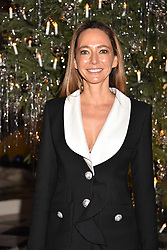 Whitney Bromberg-Hawkings at reception to celebrate the launch of the Claridge's Christmas Tree 2017 at Claridge's Hotel, Brook Street, London England. 28 November 2017.<br /> Photo by Dominic O'Neill/SilverHub 0203 174 1069 sales@silverhubmedia.com