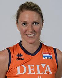 21-05-2014 NED: Selectie Nederlands volleybal team vrouwen, Arnhem<br /> Op Papendal werd het Nederlands team volleybal seizoen 2014-2015 gepresenteerd / Quinta Steenbergen