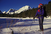 THIS PHOTO IS AVAILABLE FOR WEB DOWNLOAD ONLY. PLEASE CONTACT US FOR A LARGER PHOTO. Idaho. Sun Valley area, skiing Nordic.  MR