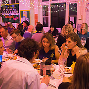 Pop-up benefit gala dinner at Gayhurst Community School in Hackney with head chef Nocole Pisani.