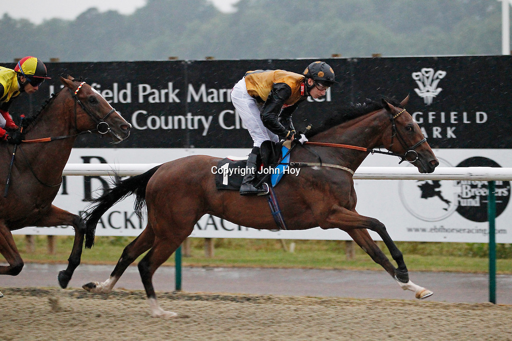Miss Tiger Lily and Luke Morris winning the 7.30 race
