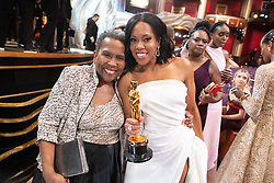 Regina King, Oscar® winner, poses with her mother during the live ABC Telecast of The 91st Oscars® at the Dolby® Theatre in Hollywood, CA on Sunday, February 24, 2019.