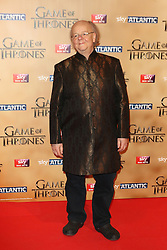 © Licensed to London News Pictures. 18/03/2015, UK. Ian Roger Ashton-Griffiths (Mace Tyrell),, Game of Thrones - Series Five World Premiere, Tower of London, London UK, 18 March 2015. Photo credit : Richard Goldschmidt/Piqtured/LNP