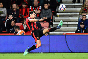 Charlie Daniels (11) of AFC Bournemouth reaches for the ball during the Premier League match between Bournemouth and Manchester United at the Vitality Stadium, Bournemouth, England on 18 April 2018. Picture by Graham Hunt.