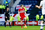 Middlesbrough midfielder Grant Leadbitter (7) waiting to kick off after Preston North End score their second goal during the EFL Sky Bet Championship match between Preston North End and Middlesbrough at Deepdale, Preston, England on 1 January 2018. Photo by Simon Davies.
