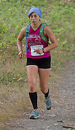 New Paltz, New York - Sara Wenger runs through the Mohonk Preserve during the Shawangunk Ridge Trail Run/Hike 20-mile race on Sept. 20, 2014.