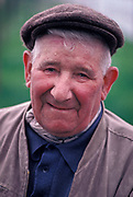 Portrait of an elderly man living in rural France, on 11th November 1990, in Etaples, France.