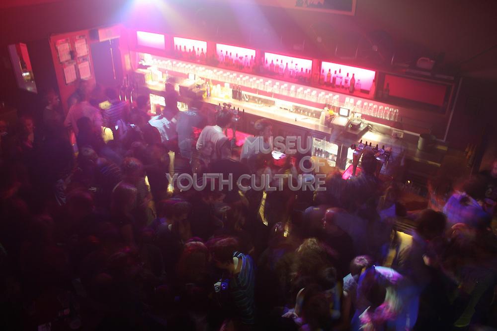 Shot of crowded bar, Masonic Place, Nottingham.