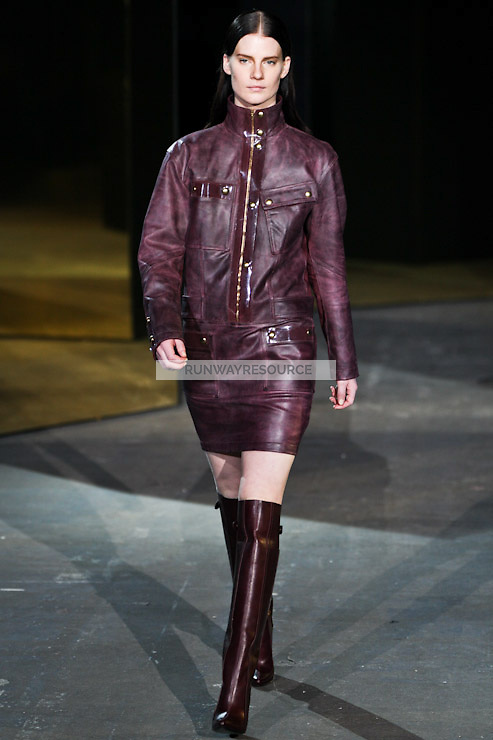 Querelle Jansen walks down runway for F2012 Alexander Wang's collection in Mercedes Benz fashion week in New York on Feb 12, 2012 NYC