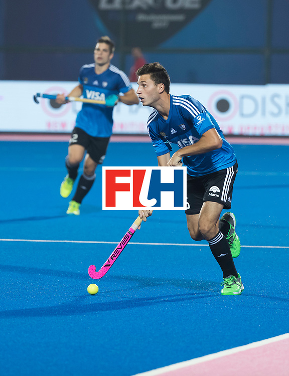 Odisha Men's Hockey World League Final Bhubaneswar 2017<br /> Match id:14<br /> England v Argentina , Quater Final<br /> Foto:  Santiago Tarazona (Arg)<br /> WSP COPYRIGHT KOEN SUYK