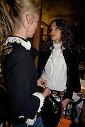 ASTRID MUNOZ AND DAN MACMILLAN, Exhibition of work by Marc Newson at the Gagosian Gallery, Davies st. London. afterwards at Mr. Chow, Knightsbridge. 5 March 2008.  *** Local Caption *** -DO NOT ARCHIVE-© Copyright Photograph by Dafydd Jones. 248 Clapham Rd. London SW9 0PZ. Tel 0207 820 0771. www.dafjones.com.