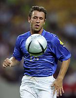 Fotball<br /> Euro 2004<br /> 18.06.2004<br /> Sverige v Italia 1-1<br /> Foto: Omega/SBI/Digitalsport<br /> NORWAY ONLY<br /> <br /> ANTONIO CASSANO
