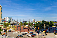 View from 2nd floor of 10 e. Pratt Street in Baltimore MD by Michael Sauers of CPI Productions
