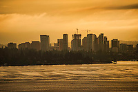 Bellevue Skyline on Lake Washington, Cloudy Sunrise