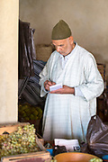 Vegetable market, Moulay Idriss Zerhoun Medina, Middle Atlas, Morocco, 2016-06-22.