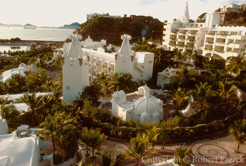 MEXICO, PACIFIC COAST, TOURISM the famous Las Hadas resort hotel in Manzanillo