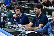 Nicolo Trigari, Andrea Meneghin<br /> A X Armani Exchange Olimpia Milano - Vanoli Cremona<br /> Quarti di finale<br /> LBA Legabasket Serie A Final 8 Coppa Italia 2019-2020<br /> Pesaro, 13/02/2020<br /> Foto L.Canu / Ciamillo-Castoria