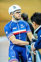 Quentin Lafargue - 27.01.2015 -Entrainement Equipe de France de cyclisme sur piste - Saint Quentin en Yvelines <br />Photo : Anthony Dibon / Icon Sport