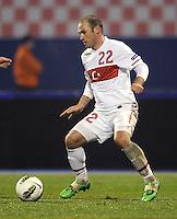 Fussball International, Nationalmannschaft   EURO 2012 Play Off, Qualifikation, Kroatien - Tuerkei       15.11.2011 Serkan Balci (Tuerkei)